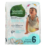 Seventh Generation Free And Clear Baby Diapers for Sensitive Skin - Size 6 - 4 pack, 80 count