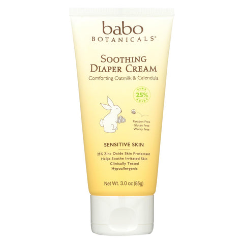 Baby Soothing Diaper Cream - Sensitive Skin - 3 Oz
