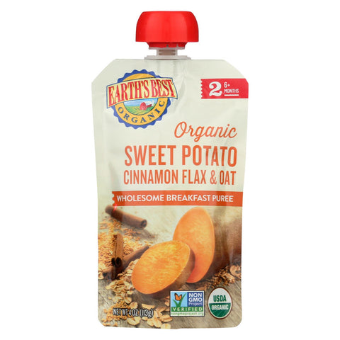 Stage 2 Sweet Potato Flax & Oat Wholesome Breakfast Pouch 4 Oz - 12 pack