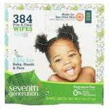 Seventh Generation Free And Clear Baby Wipes - Multipack - Case of 6 64 packs - 384 count