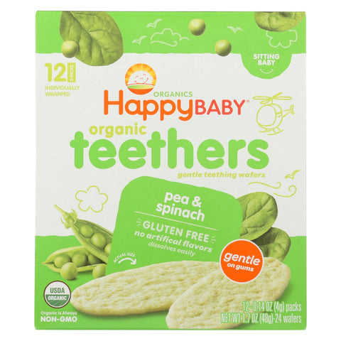 Gentle Teethers - Pea And Spinach - 1.7 Oz. Box - 6 pack