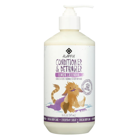 Babies and Kids Conditioner And Detangler - Lemon Lavender - 16 Fl Oz Bottle