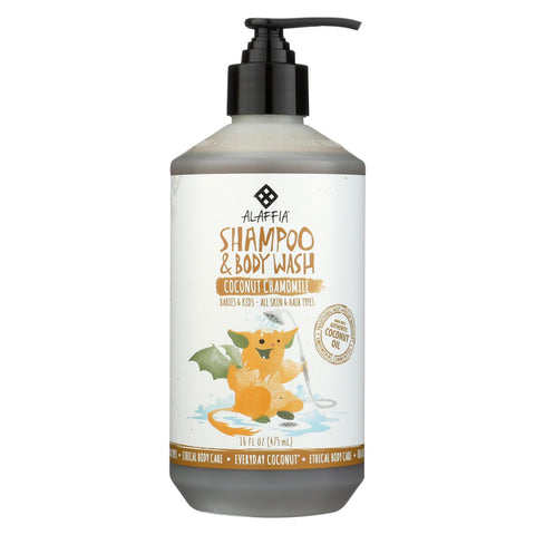 Babies and Kids Shampoo and Body Wash - Coconut Chamomile - 16 Fl Oz Bottle