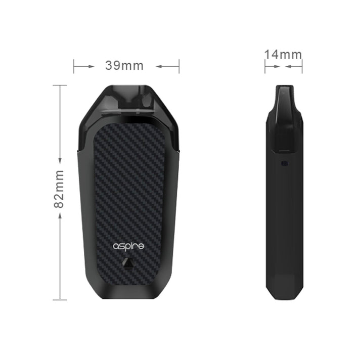 Aspire AVP AIO Kit Product Dimensions