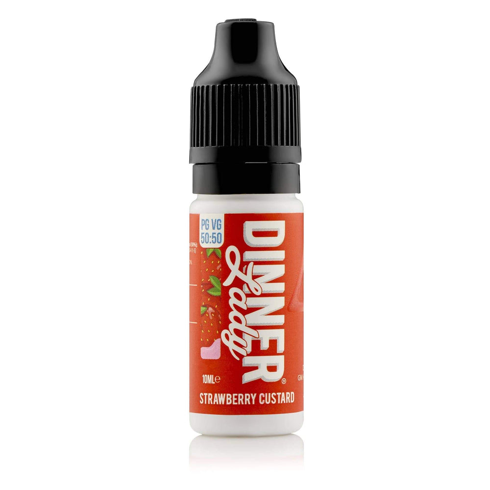 Dinner Lady Strawberry Custard 50-50 Bottle 10ml E-liquid