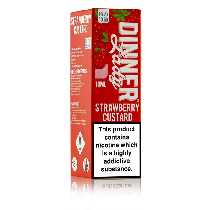 Dinner Lady Strawberry Custard 50-50 Carton 10ml E-liquid
