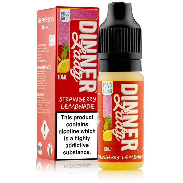 Dinner Lady Strawberry Lemonade 50-50 Carton & Bottle 10ml E-liquid