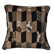 Load image into Gallery viewer, Baba Camel Patchwork Cushion - Departures & Arrivals  - 1
