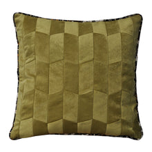 Load image into Gallery viewer, Summer Baba Olive Patchwork Cushion - Departures & Arrivals  - 1