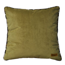 Load image into Gallery viewer, Summer Baba Olive Patchwork Cushion - Departures & Arrivals  - 2