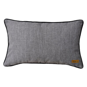 Baba Gray Asymmetrical Patchwork Cushion - Departures & Arrivals  - 2