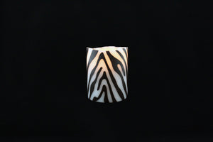 Zebra Wax Inlay Flameless Candle - Departures & Arrivals  - 1