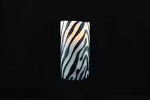 Load image into Gallery viewer, Zebra Wax Inlay Flameless Candle - Departures & Arrivals  - 2