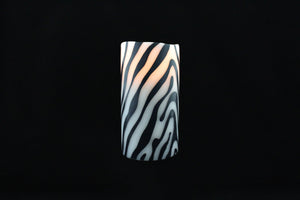 Zebra Wax Inlay Flameless Candle - Departures & Arrivals  - 2