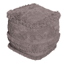 Load image into Gallery viewer, Boho Taupe Pouf