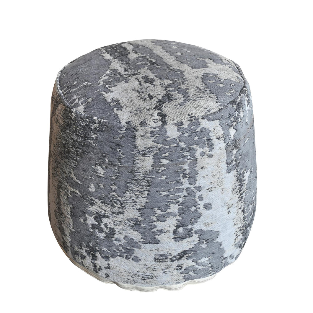 Abstract Gray Pouf Stools & Poufs