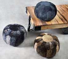 Load image into Gallery viewer, Clayton Charcoal Pouf