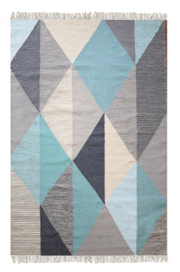 Scandi Triangle Rug - Departures & Arrivals