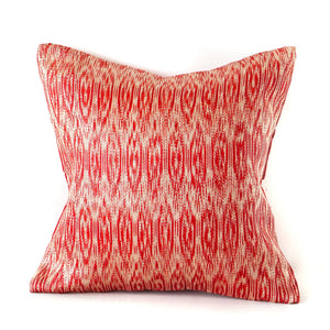 Vermillion Ikat No. 1 Cushions