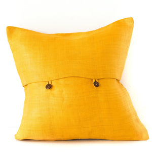 Ochre Ikat Cushion