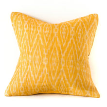 Load image into Gallery viewer, Ochre Ikat Cushion
