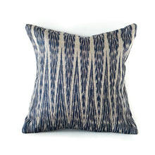 Load image into Gallery viewer, Blue Ikat Cushion No. 4