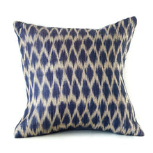 Load image into Gallery viewer, Blue Ikat Cushion No. 1