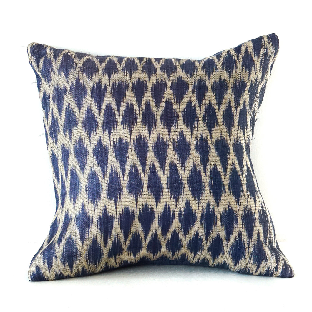 Blue Ikat Cushion No. 1