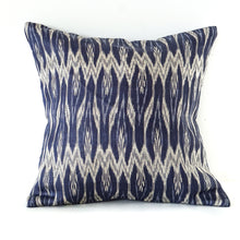 Load image into Gallery viewer, Blue Ikat Cushion No. 2
