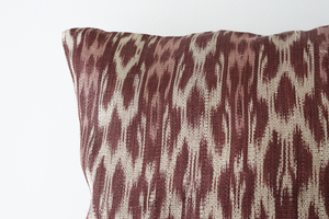 Plum Ikat Cushion