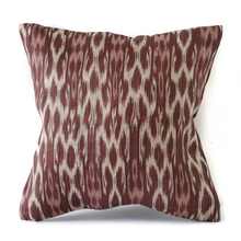 Load image into Gallery viewer, Plum Ikat Cushion