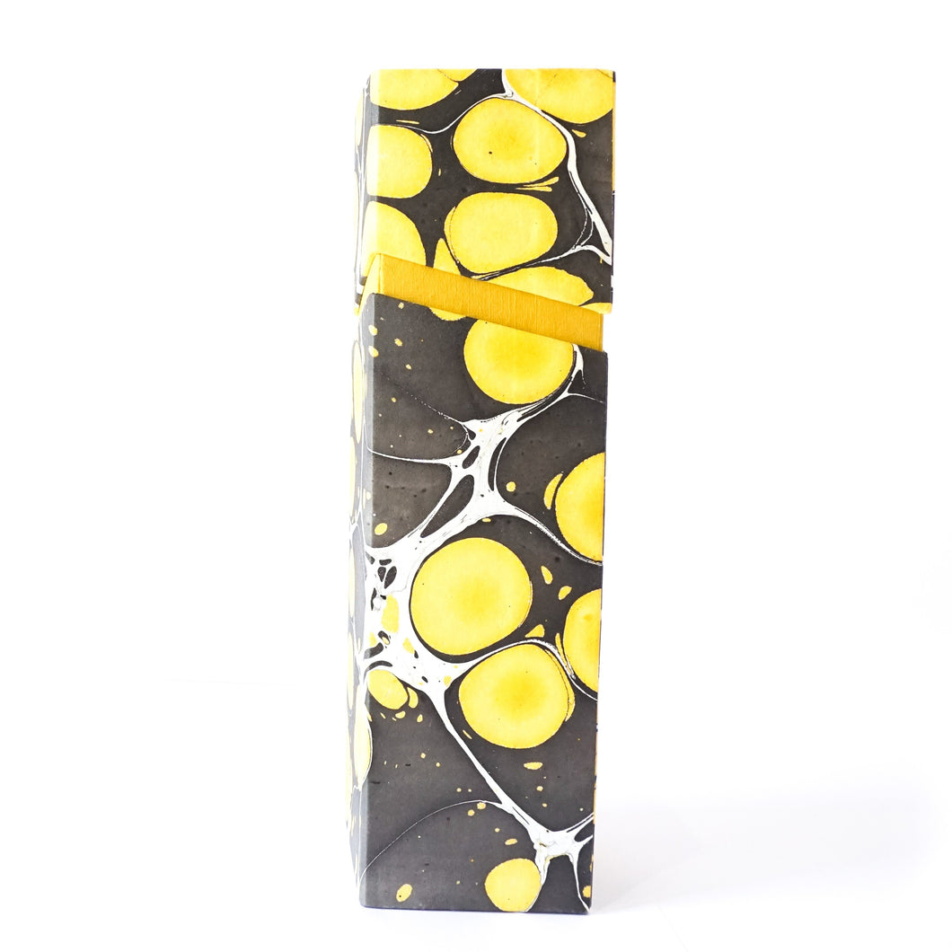 Rectangular Wine Box Yellow Black Tabletop Decor