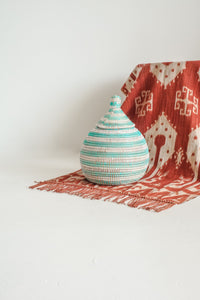 Gourd Teal Small Basket