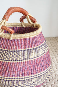 Ghanaian Pot-Shaped Bolga Basket Storage