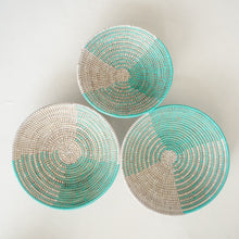 Load image into Gallery viewer, Senegalese Tray Basket in Turquoise