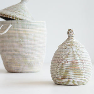 White basket storage_Living DNA Singapore