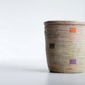 Rainbow Round Lidded Basket Storage