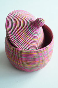 Pink storage basket Living DNA Singapore