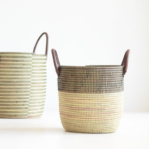 Black and white stripe basket Living DNA Singapore