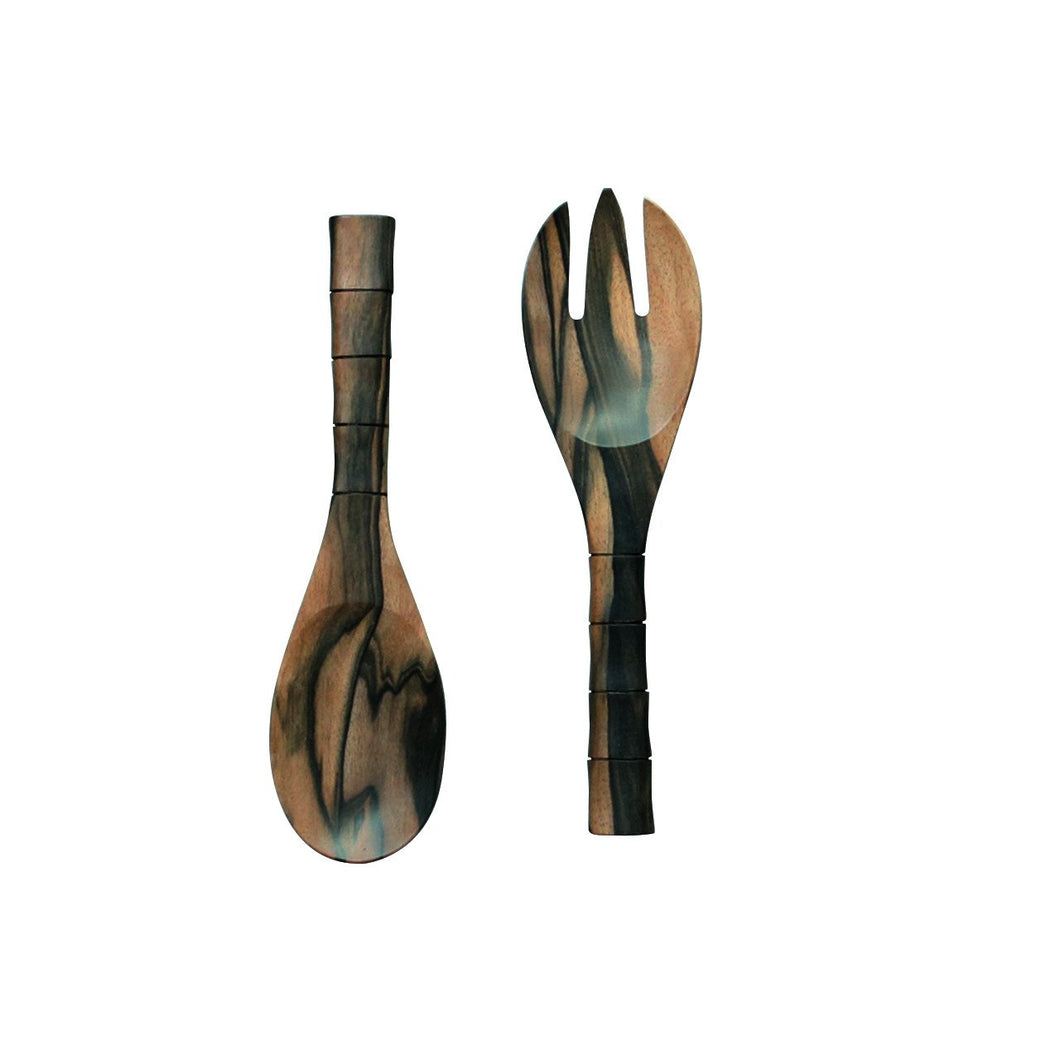 Ironwood Serving Spoon and Fork Small - Departures & Arrivals  - 1
