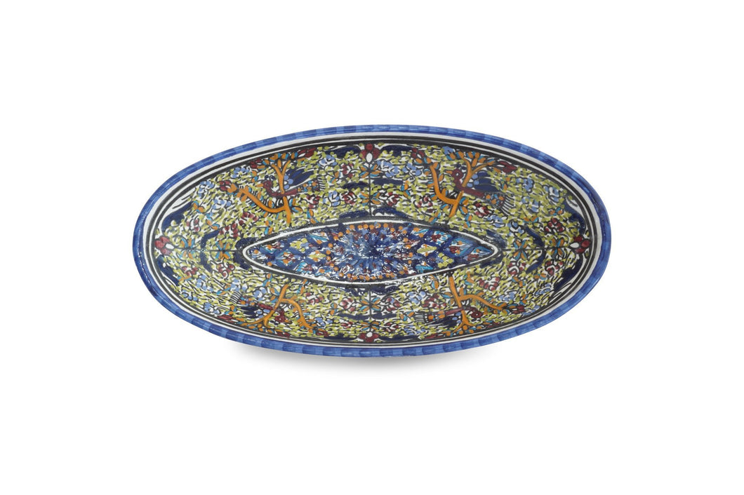 Mediterranean Fish Plate with Green Detail - Departures & Arrivals  - 1