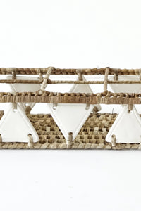 Pandan Glass Tray Triangles