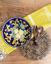 Load image into Gallery viewer, Lemon Ceramic Serving Bowl - Blue Dinnerware
