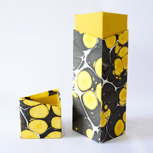 Rectangular Wine Box Yellow Black