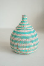 Load image into Gallery viewer, Gourd Teal Small Basket