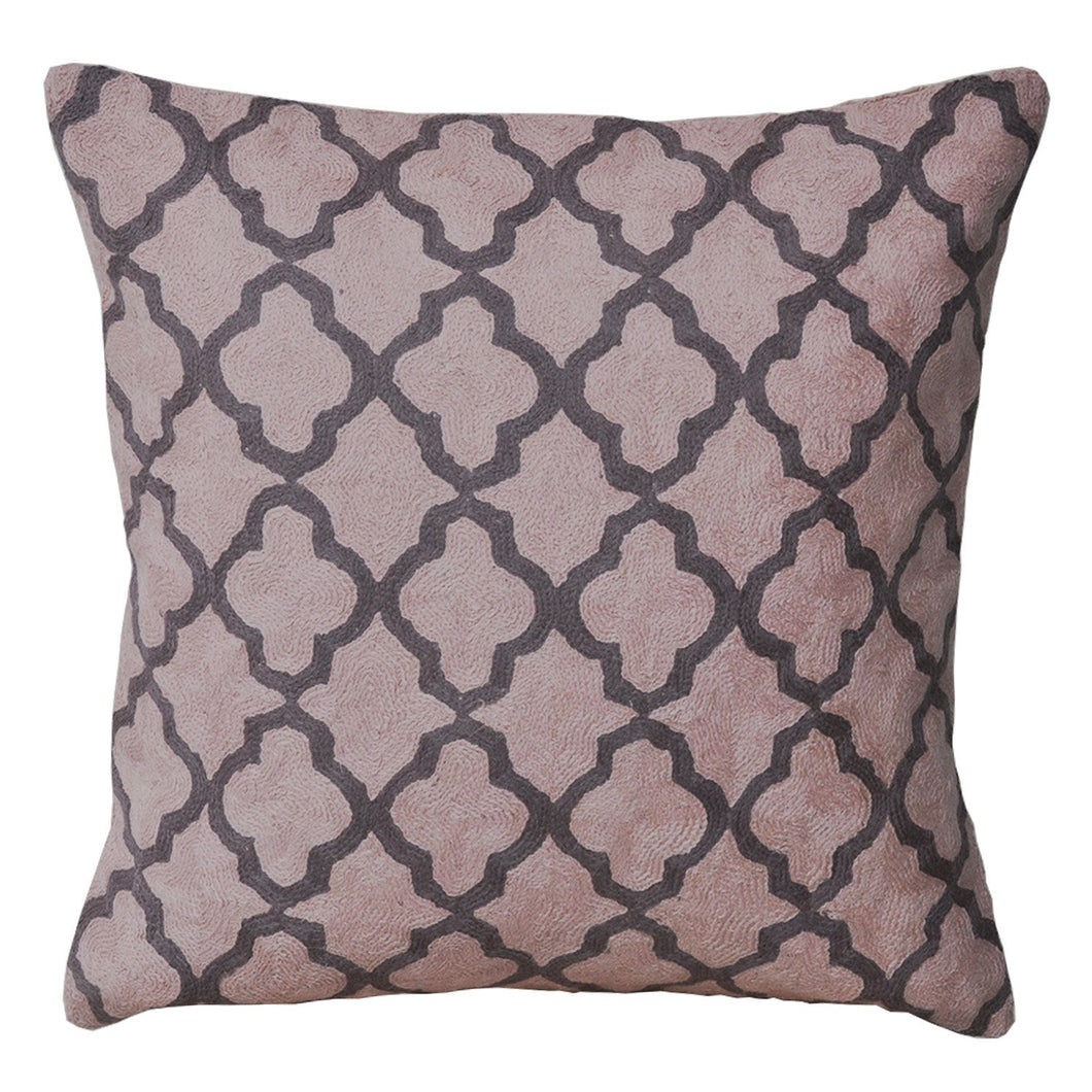 Kashmir Blush Needlework Cushion - Departures & Arrivals  - 1