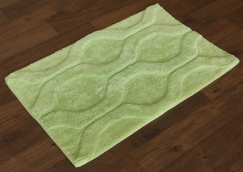Sofia Green Bath Carpet - Departures & Arrivals