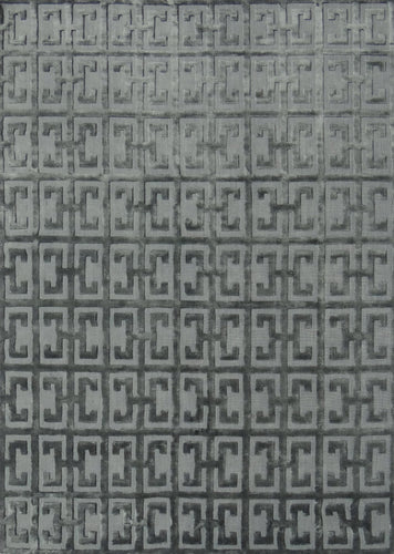 Greek Key Smoke Rug