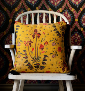 Gypsy Ochre Anthracite Cushions