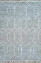 Load image into Gallery viewer, Trellis Fog Neutral Coloured Rug - Living DNA Singapore